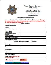 Insurance Fraud Complaint Form