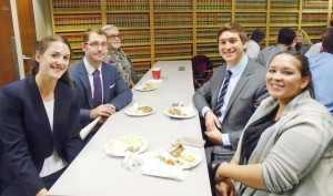 From Left to Right: Post-Bar Intern Danielle Schlehofer, UC Davis Law Student Greg Agron, Volunteer Andy Nantz, UC Davis Law Student Adam Brizzolara and Post-Bar Intern Allison Viramontes.