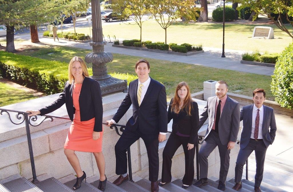 Our 2015 Summer Legal Interns from Left to Right: Ahnna Reicks, Adam Brizzolara, Karly McCrory, Ben Pelt, & Sun Seo.