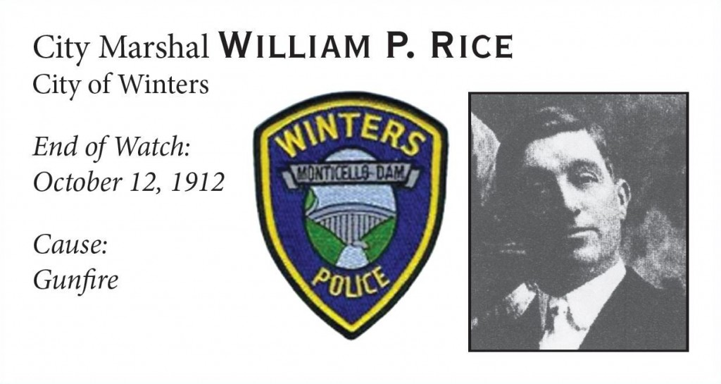 City Marshal William Rice