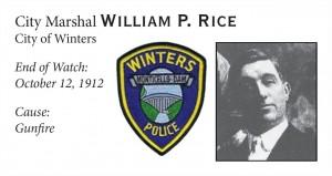 City Marshal William Rice