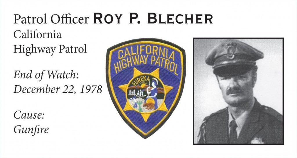 Patrol Officer Roy Blecher
