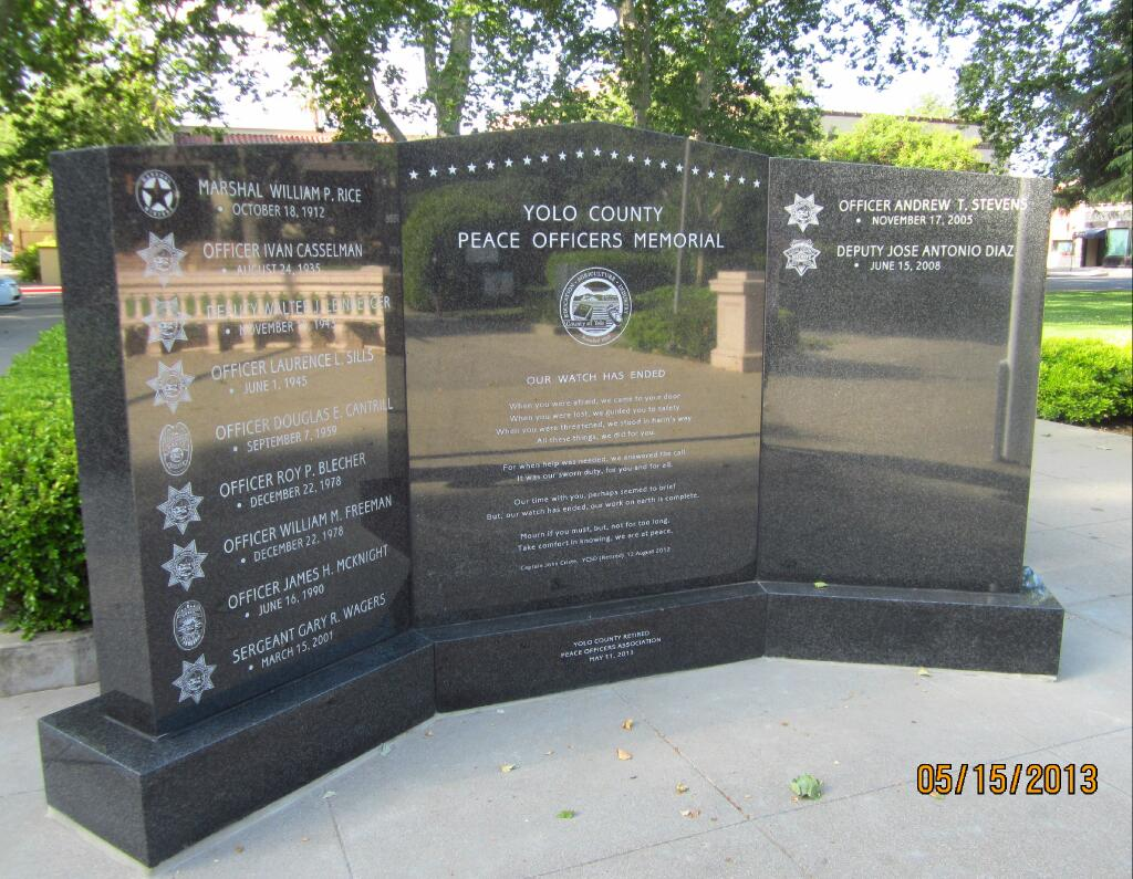 Peace Officer Memorial Day 2013 - We Will Never Forget
