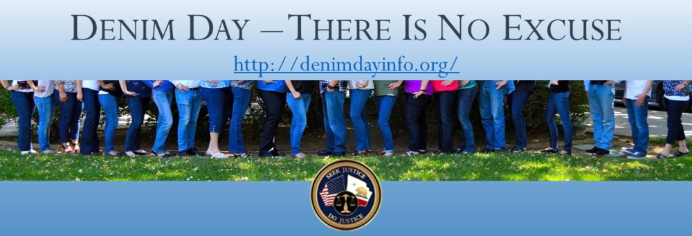 Denim Day – There Is No Excuse