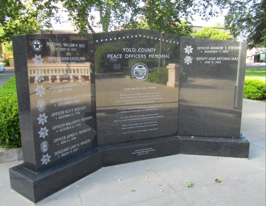Yolo County Fallen Peace Officer Memorial
