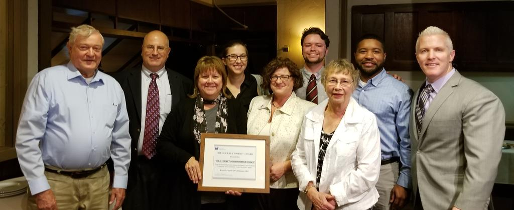 Neighborhood Court Team Receives Democracy Works Award from League of Women Voters of Woodland