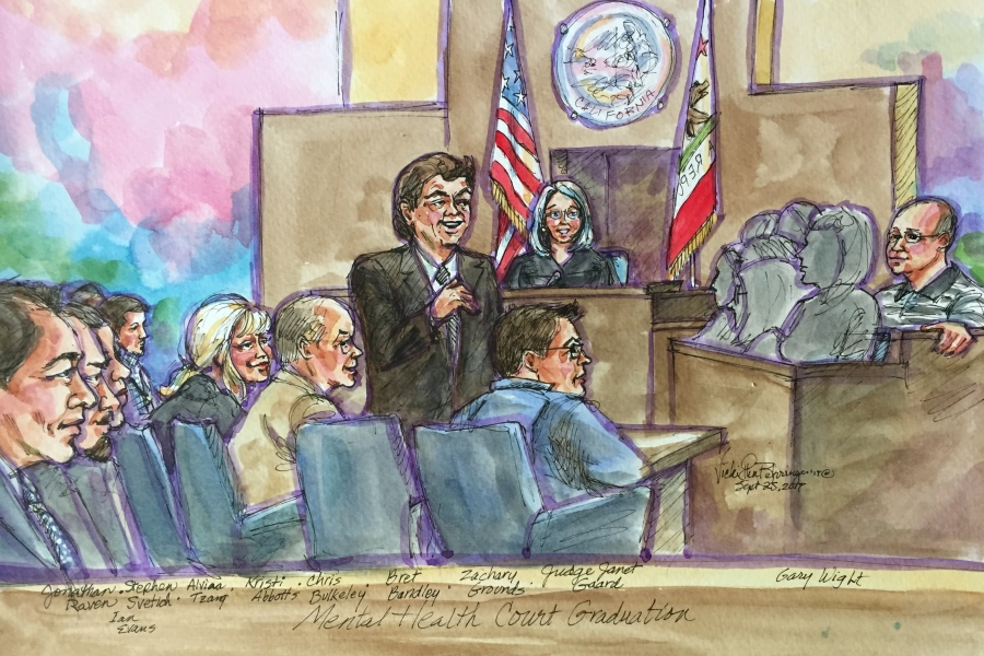 Mental Health Court Sketch