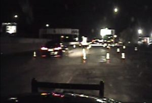 The image shows the DUI driver in the construction zone