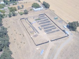 Image depicts an aerial view of the cannabis grow
