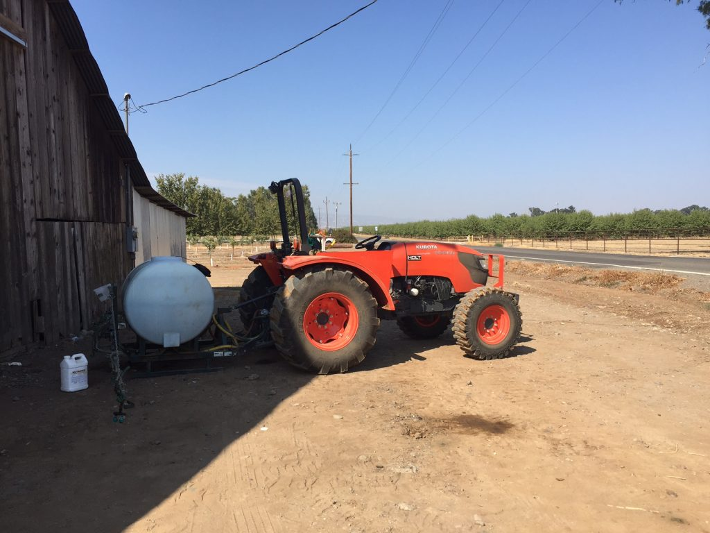 Image depicts tractor with illegal pesticides