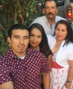 Photo depicts the victim, Juan Bravo, and his family.