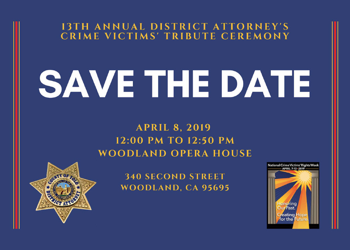 Yolo DA's Office Honors Crime Victims | Yolo County District
