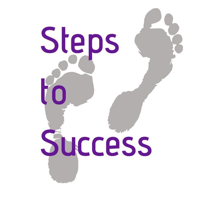 steps to success footprint logo
