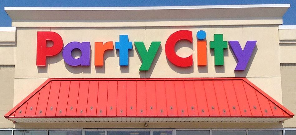 Image depicts a Party City storefront