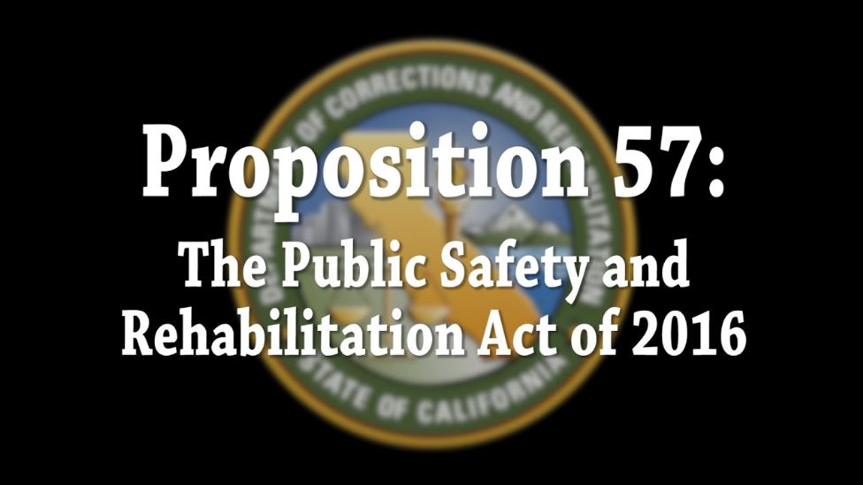 Image depicts a slide identifying Pro 57 as the Public Safety and REhabilitation Act of 2016